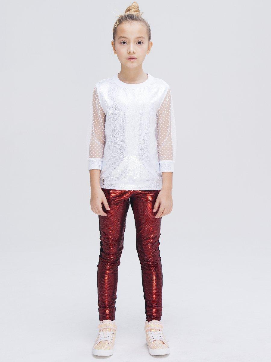 Лосины для девочки, цвет: красный