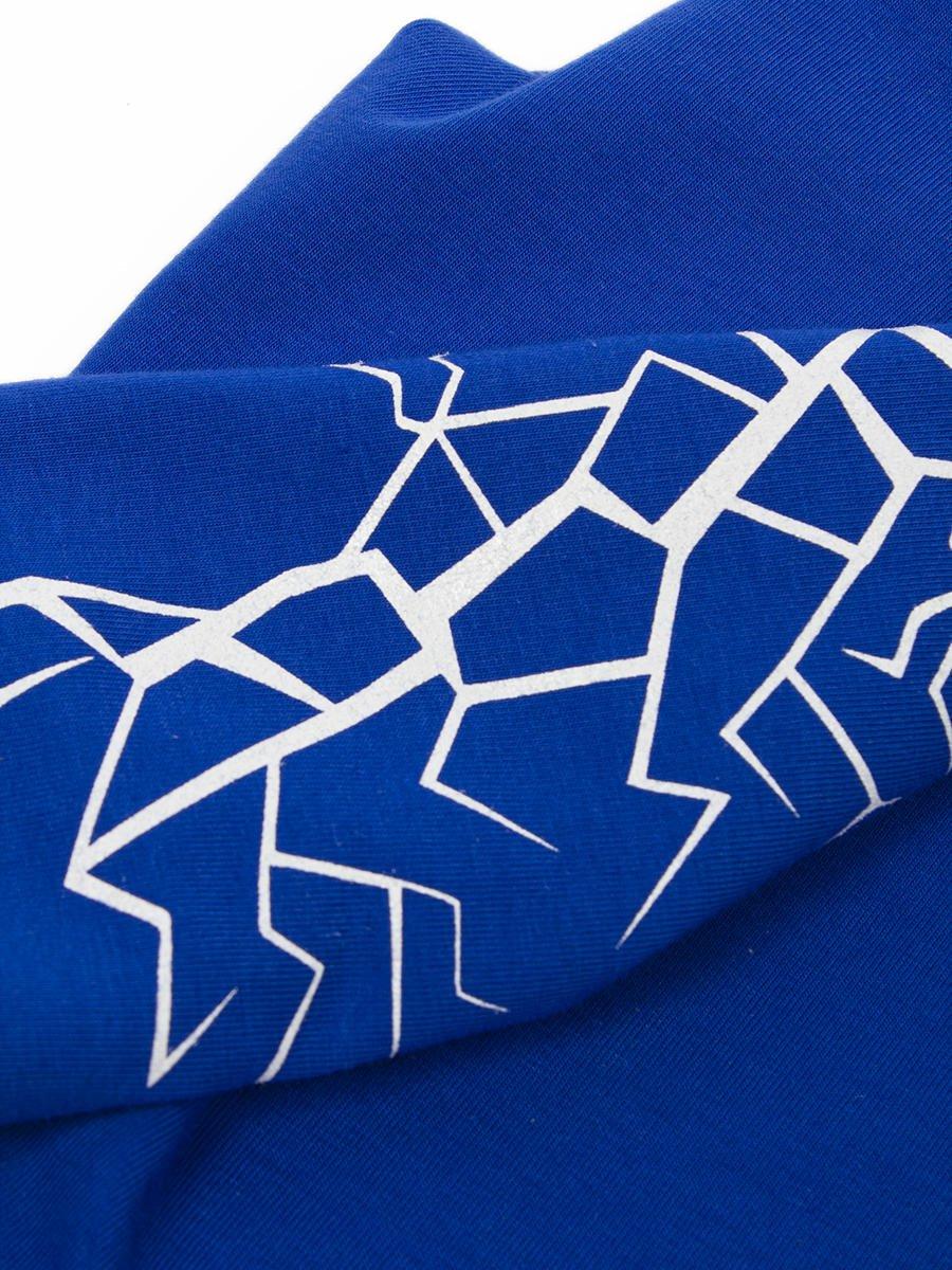 Бриджи для девочки из кулирки с лайкрой, цвет: синий