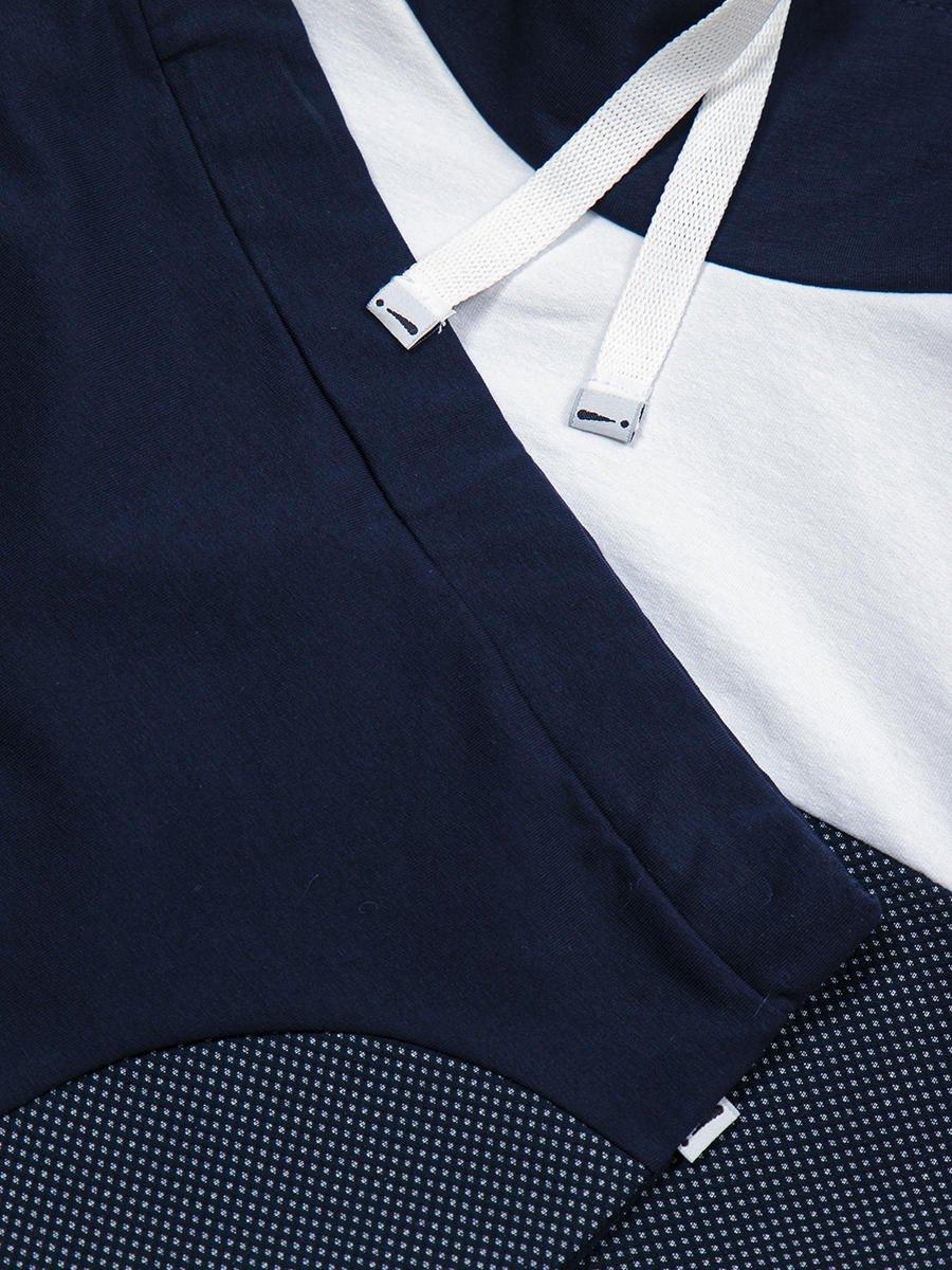 Комплект:  свитшот укороченный и юбка прилегающего силуэта, цвет: темно-синий