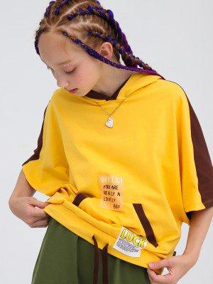 Свитшот с капюшоном для девочки