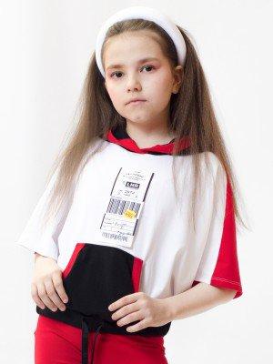Свитшот для девочки из кулирки с лайкрой