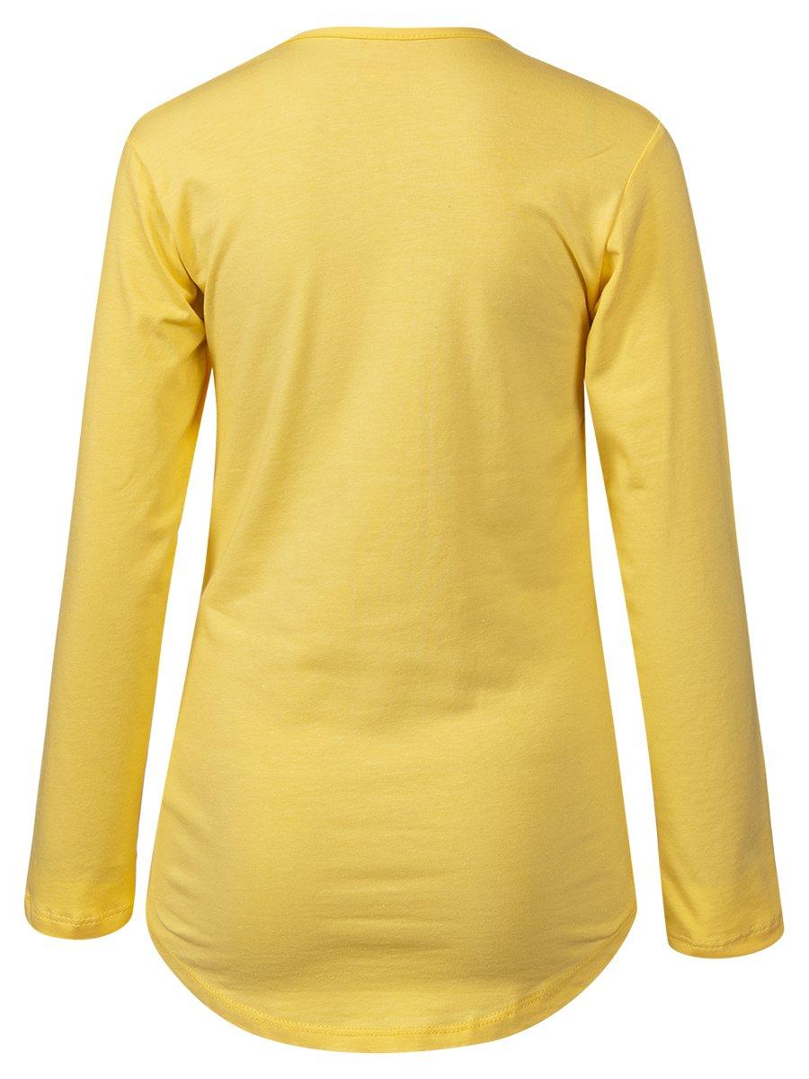 Лонгслив для девочки, цвет: желтый