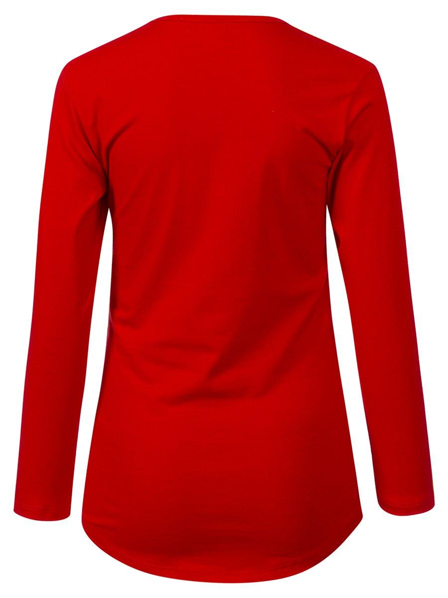 Лонгслив для девочки, цвет: красный