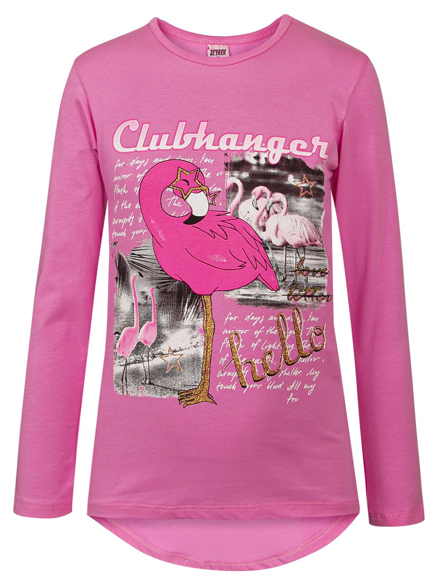 Лонгслив для девочки, цвет: светло-розовый