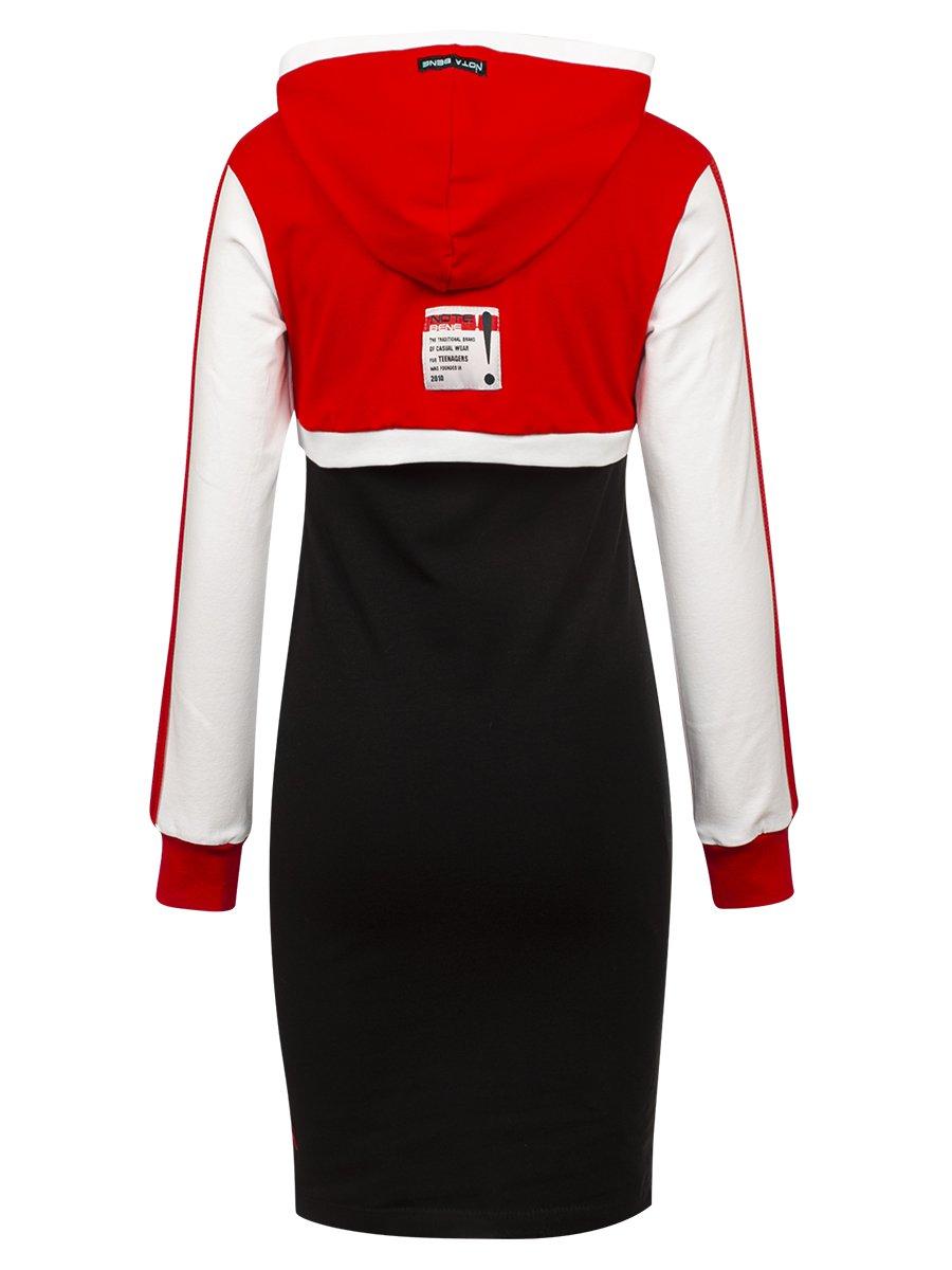 Комплект:свитшот укороченный и платье прилегающего силуэта