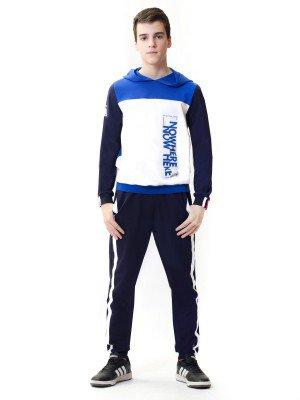 Комплект: свитшот и брюки прямого силуэта со средней посадкой