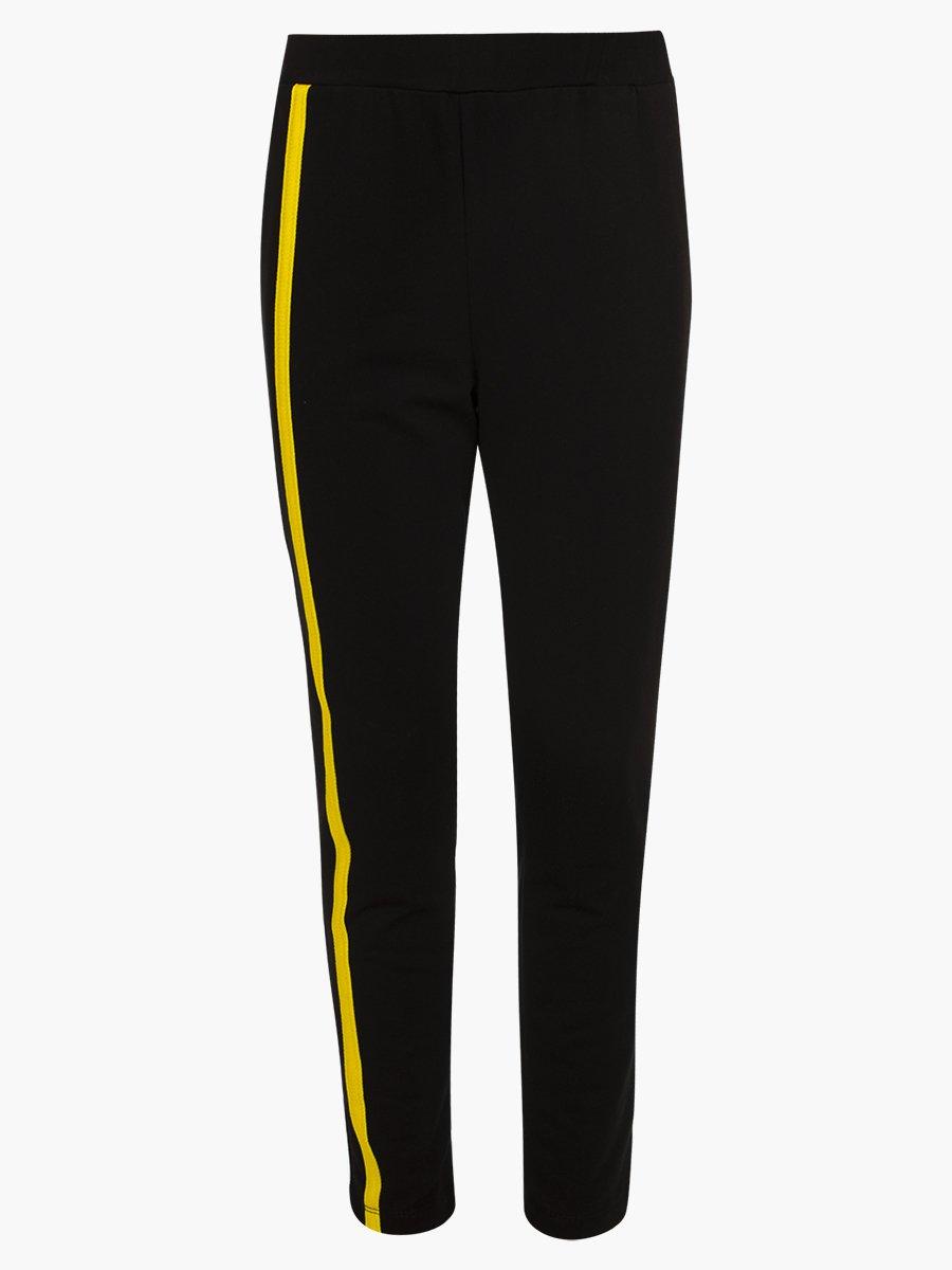Костюм спортивный: свитшот укороченный и брюки зауженные со средней посадкой, цвет: желтый