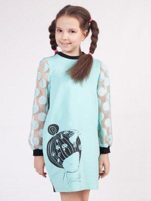 Платье из футера 2-х нитки и органзы