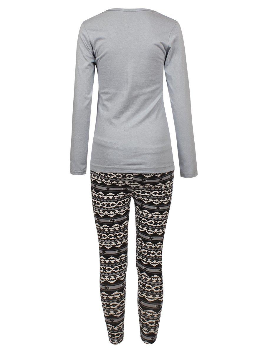 Комплект для девочки: лонгслив и леггинсы, цвет: серый