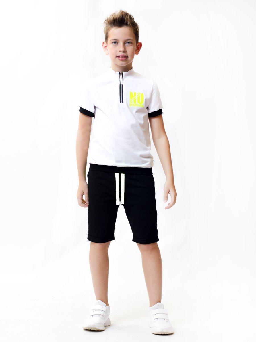Бриджи для мальчика из футера 2-х нитки, цвет: графит