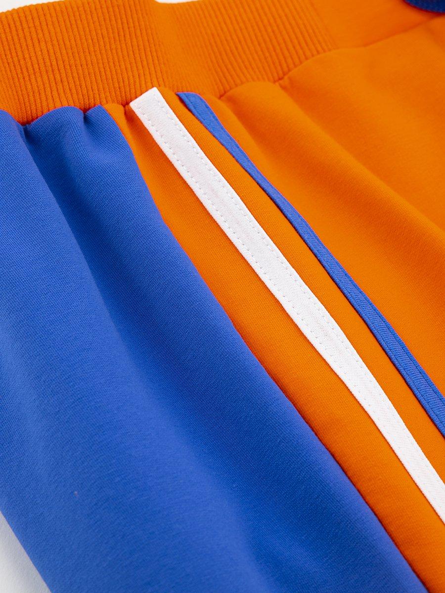 Бриджи зауженные со средней посадкой для мальчика, цвет: оранжевый