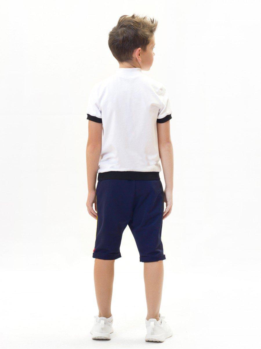 Бриджи зауженные со средней посадкой для мальчика, цвет: синий
