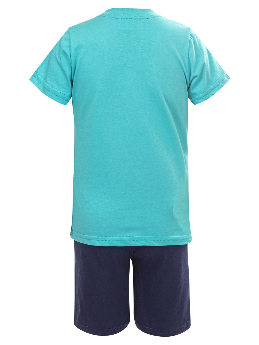 Комплект для мальчика: футболка и шорты, цвет: мятный