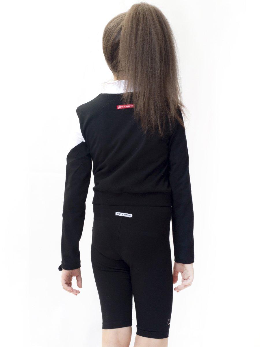 Бриджи для девочки из кулирки с лайкрой, цвет: черный