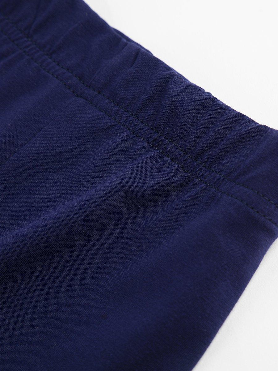 Бриджи облегающие со средней посадкой для девочки, цвет: темно-синий