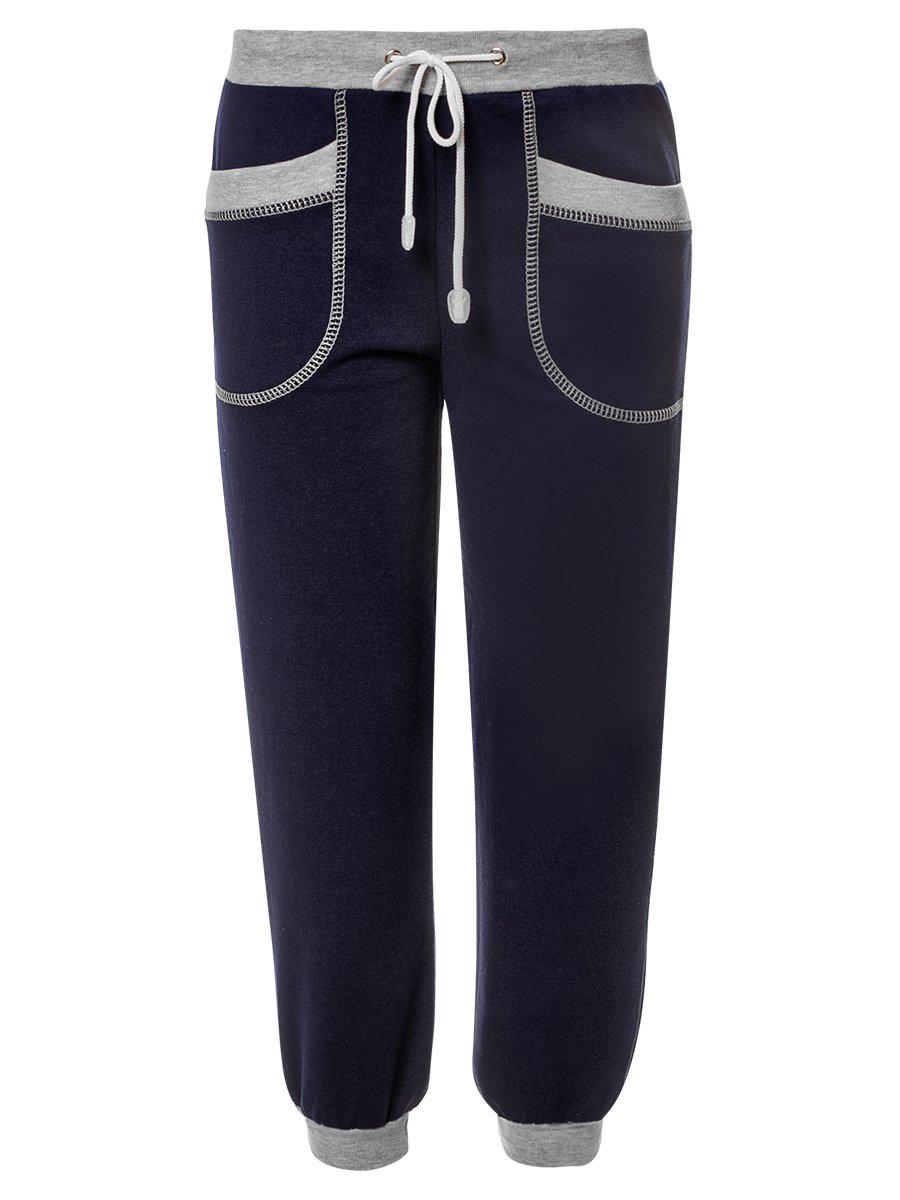 Костюм спортивный:толстовка и брюки зауженные со средней посадкой, цвет: темно-синий