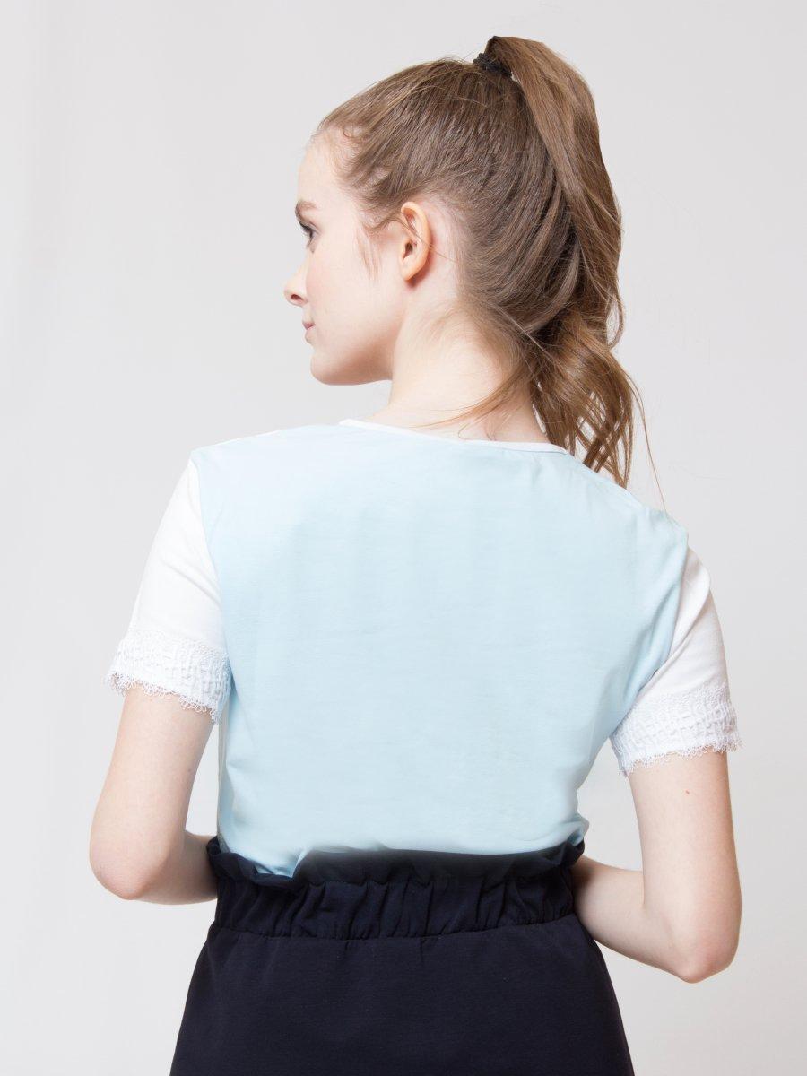 Блузка прямого силуэта, цвет: голубой