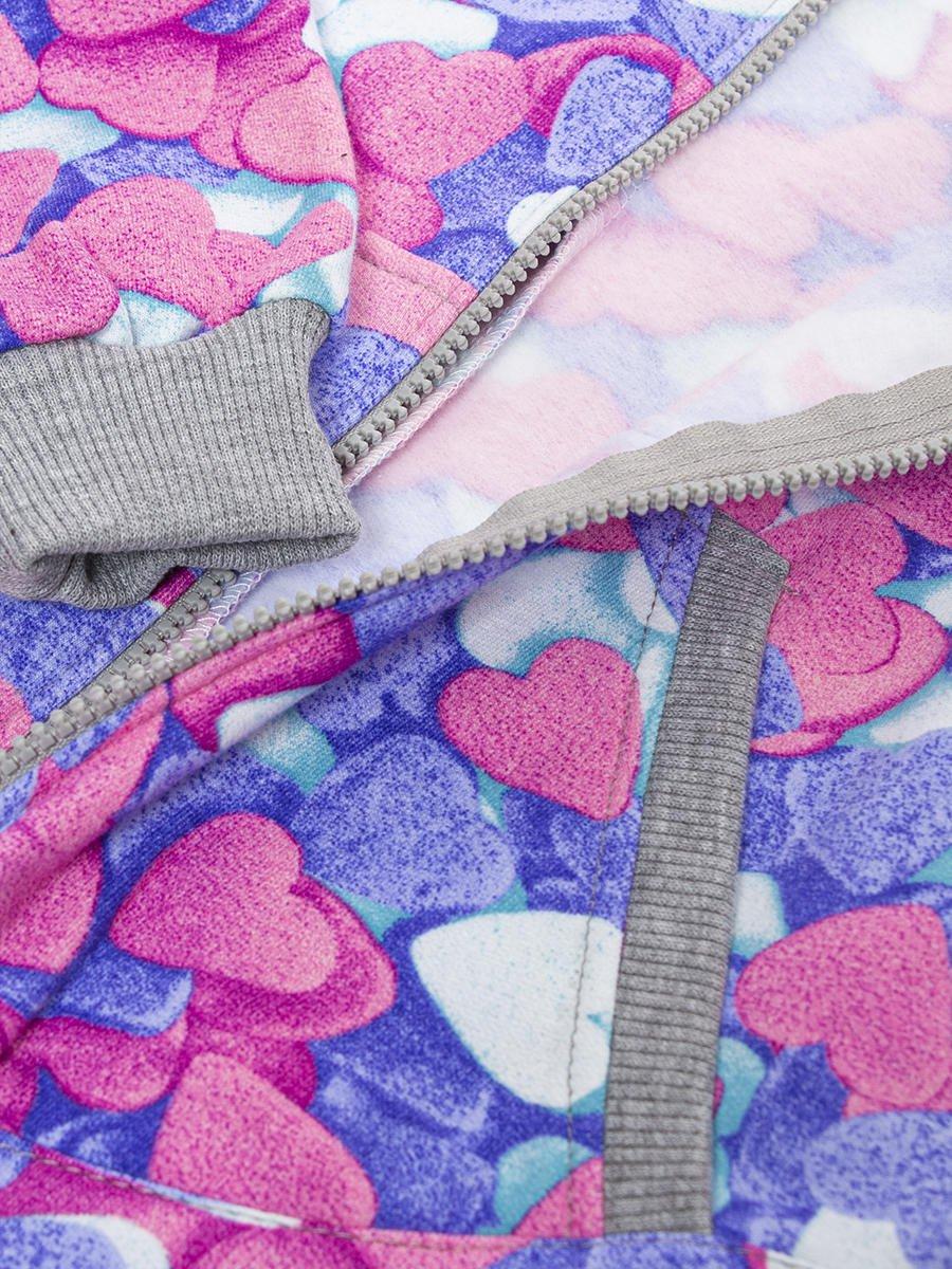 Комбинезон с начесом для девочки, цвет: розовый