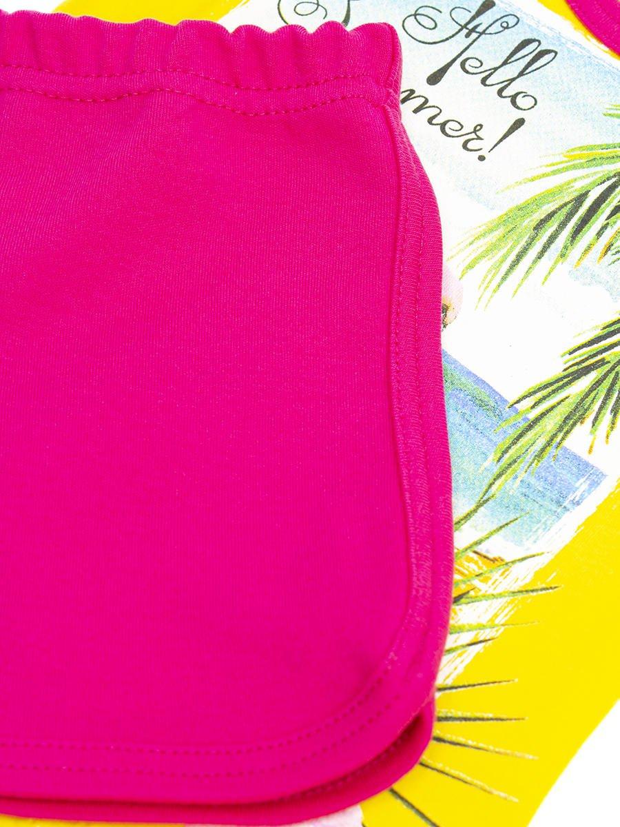 Комплект для девочки: майка и шорты, цвет: желтый