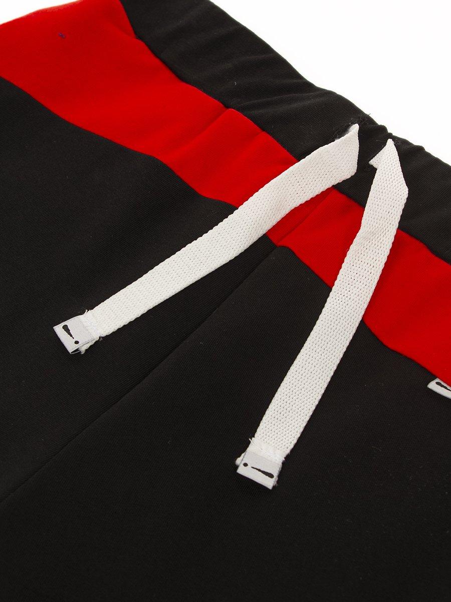 Бриджи для мальчика из футера 2-х нитки, цвет: черный
