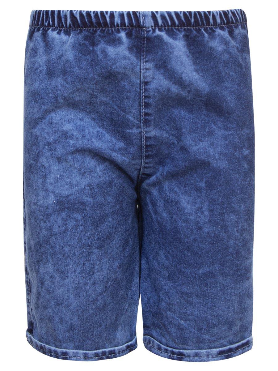 Комплект для мальчика: футболка и джинсовые шорты, цвет: серый меланж