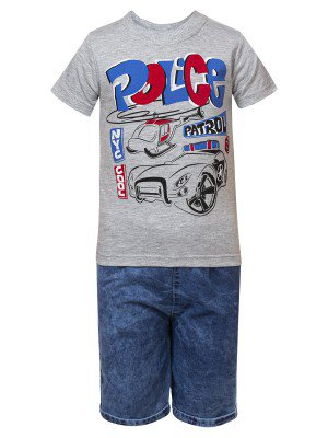 Комплект для мальчика:футболка и джинсовые шорты
