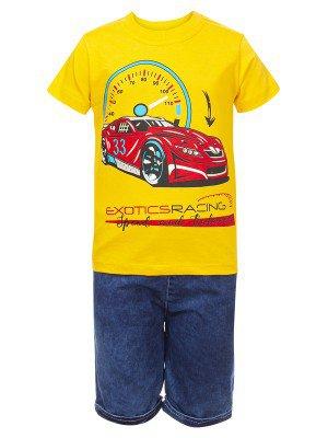 Комплект для мальчика: футболка и джинсовые шорты