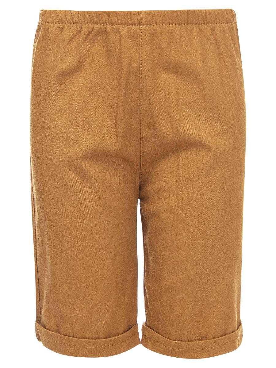 Комплект для мальчика: футболка и джинсовые шорты, цвет: бежевый