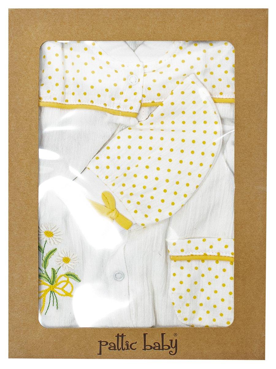 Набор для новорожденного: комбинезон и шапочка, цвет: желтый