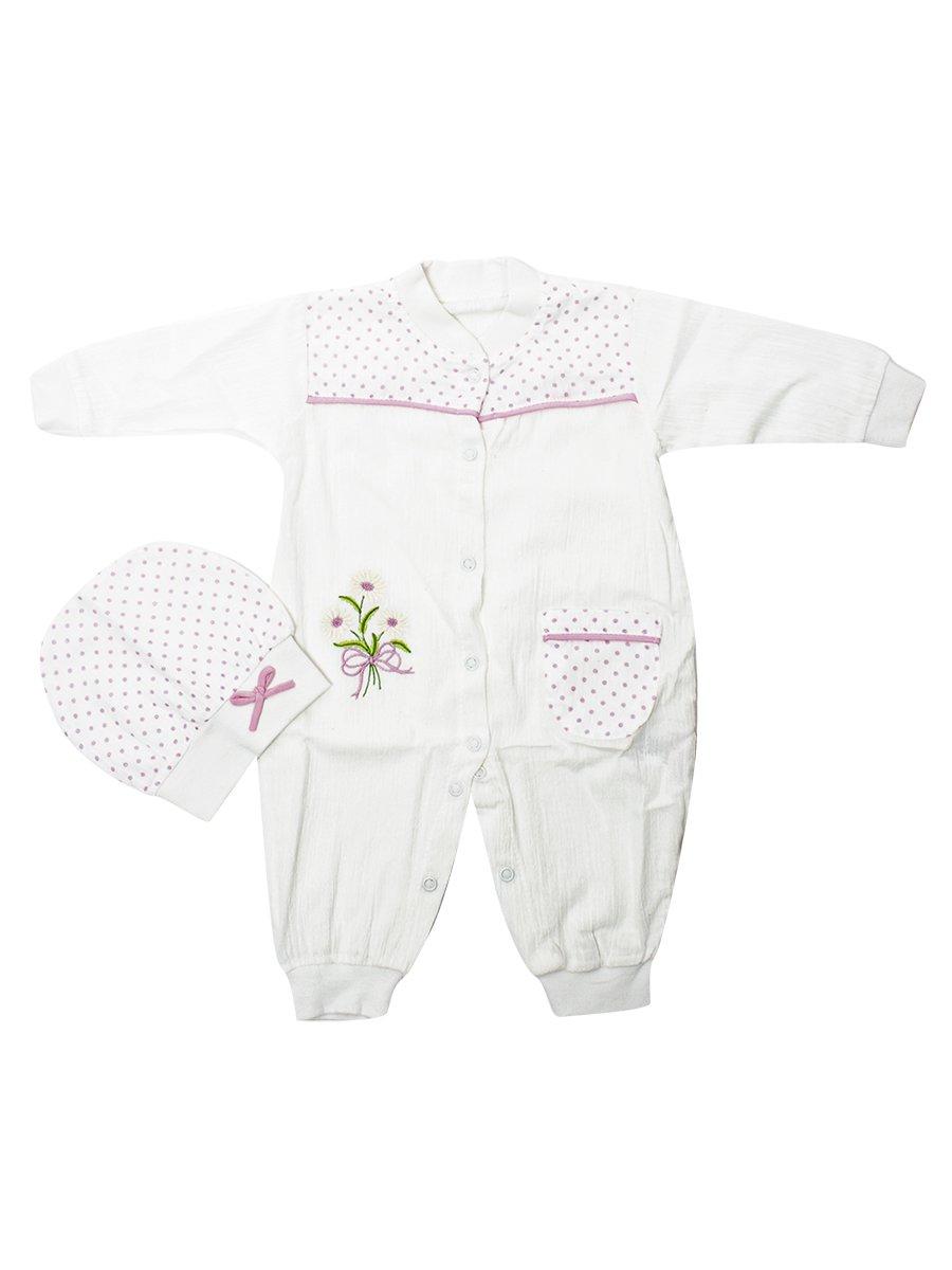 Набор для новорожденного: комбинезон и шапочка, цвет: розовый