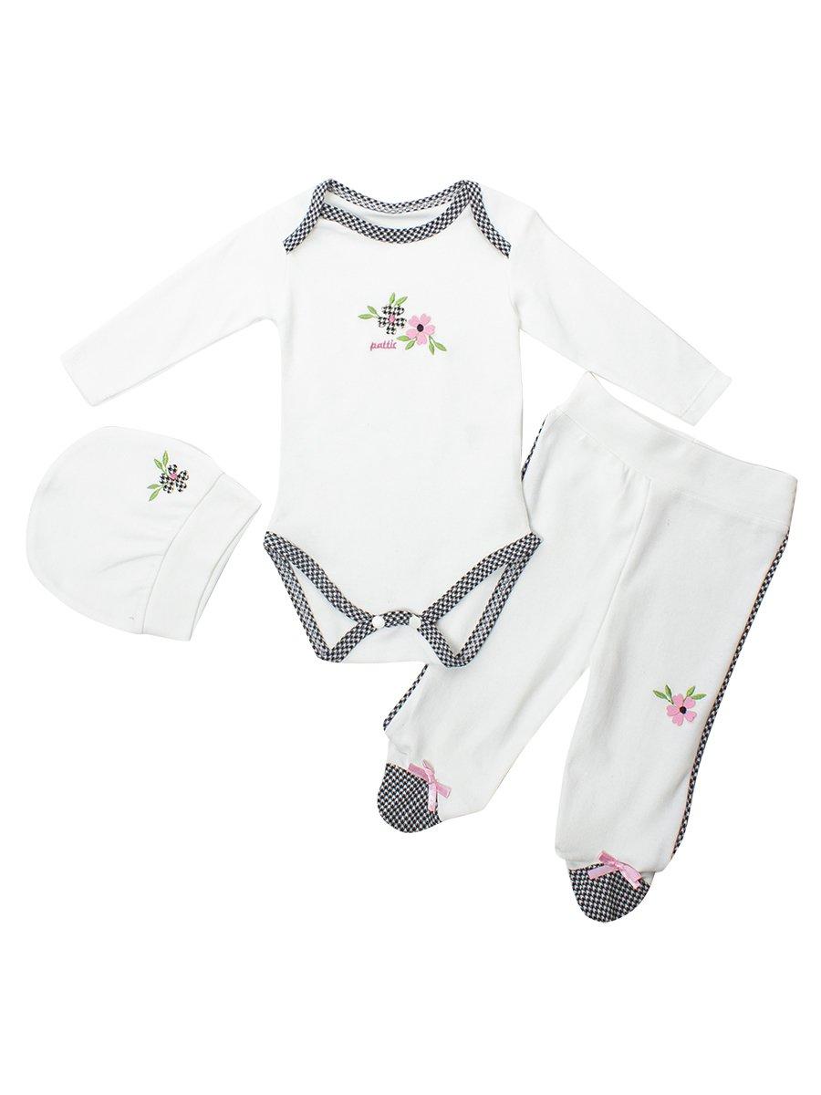 Комплект для девочки:боди,штанишки и шапочка, цвет: розовый
