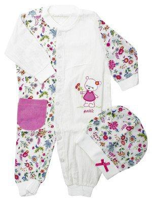 Набор для новорожденного: комбинезон и шапочка
