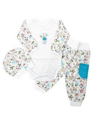 Набор для новорожденного: боди, штанишки и шапочка