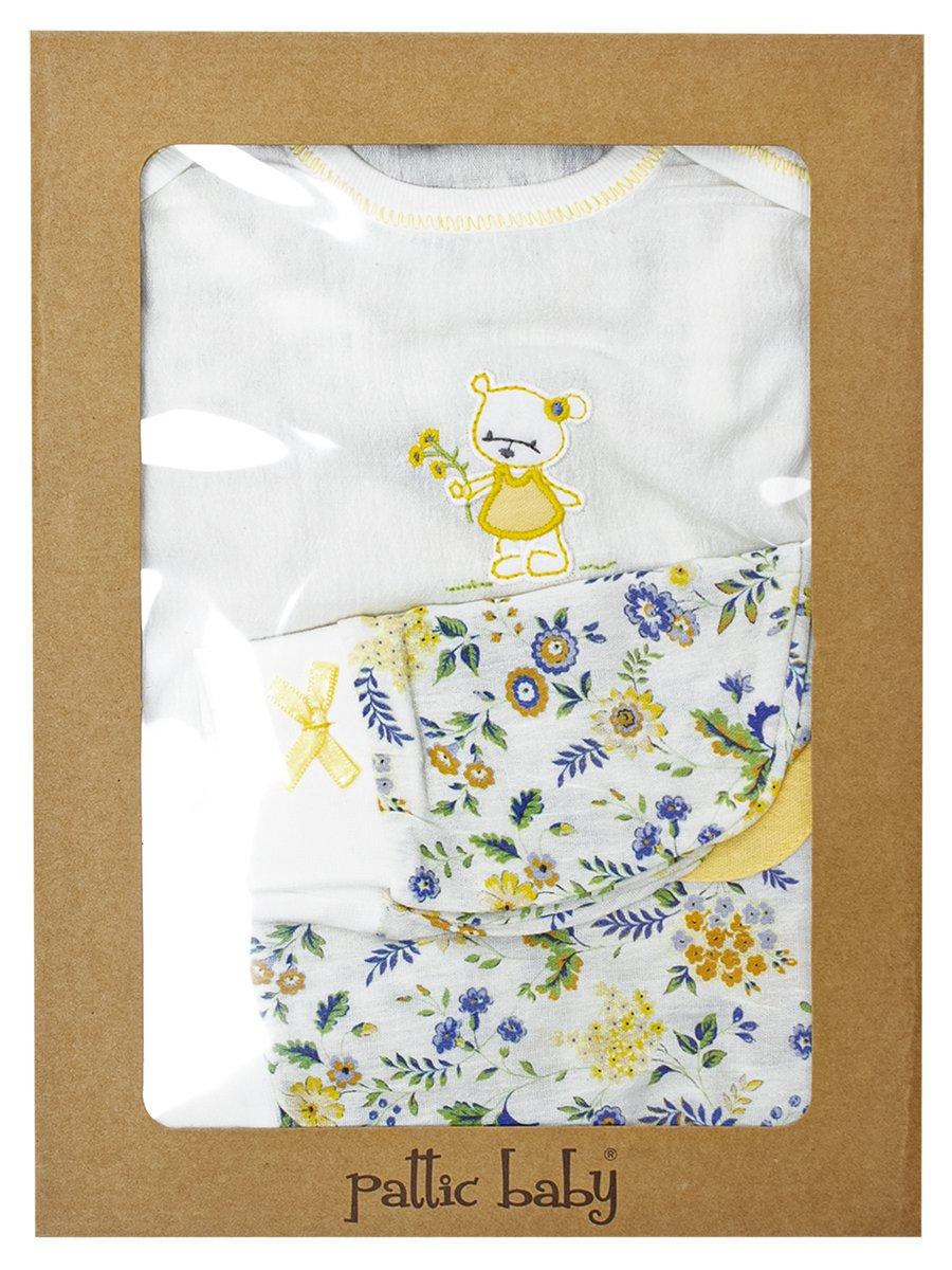 Набор для новорожденного: боди, штанишки и шапочка, цвет: желтый