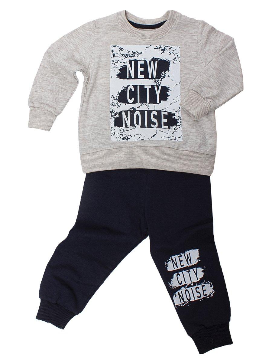 Комплект для мальчика:толстовка и штанишки, цвет: светло-серый