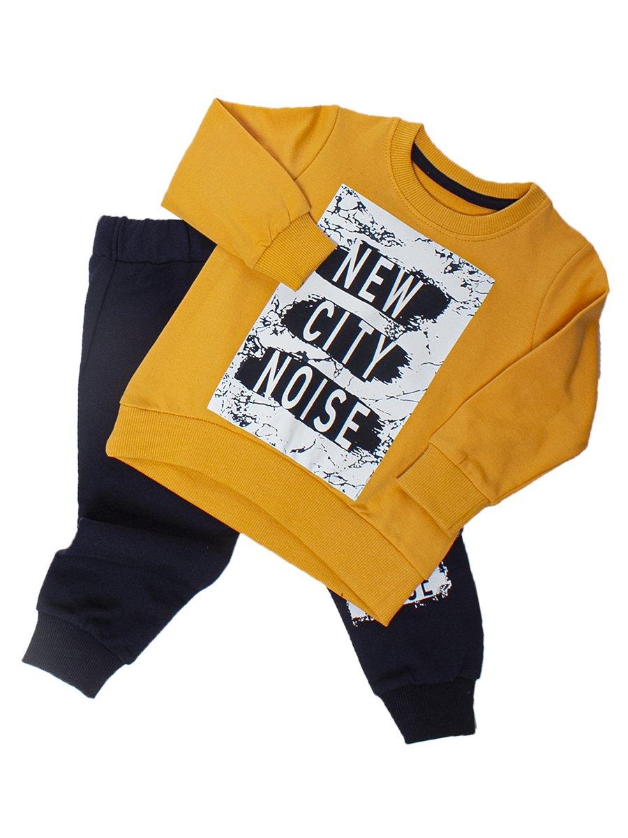 Комплект для мальчика:толстовка и штанишки, цвет: желтый