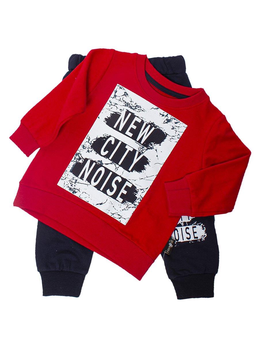 Комплект для мальчика:толстовка и штанишки, цвет: красный