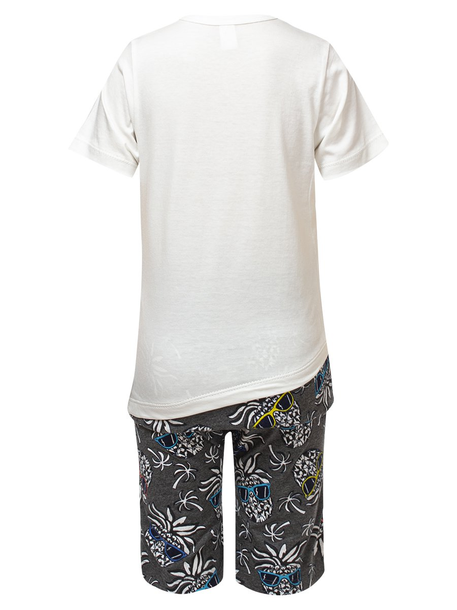 Комплект для девочки:футболка и шорты, цвет: молочный