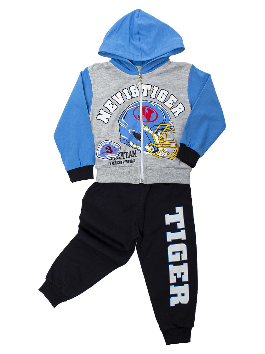Комплект для мальчика:толстовка и штанишки, цвет: голубой