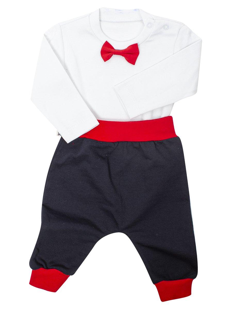 Комплект для мальчика:кофточка,штанишки и кардиган, цвет: красный