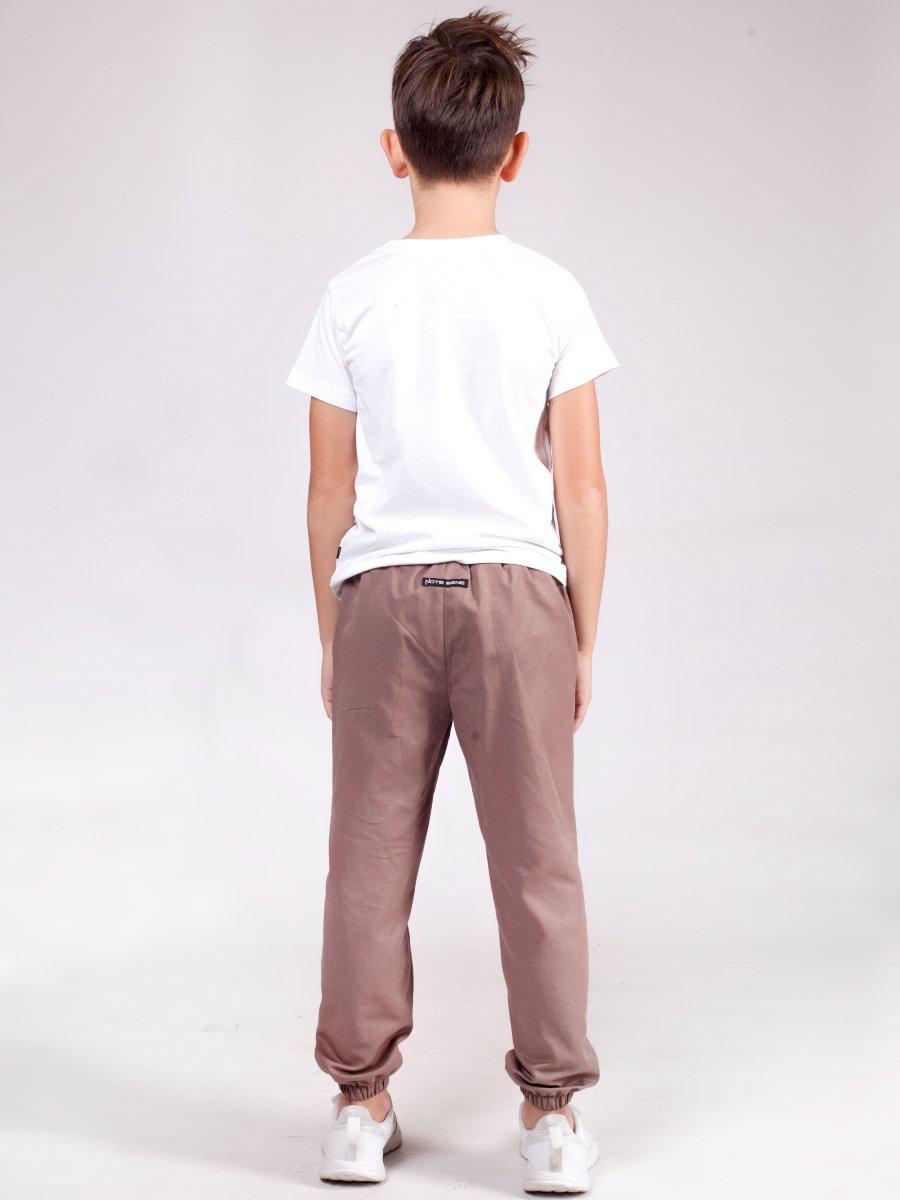 Брюки для мальчика из текстиля, цвет: капучино