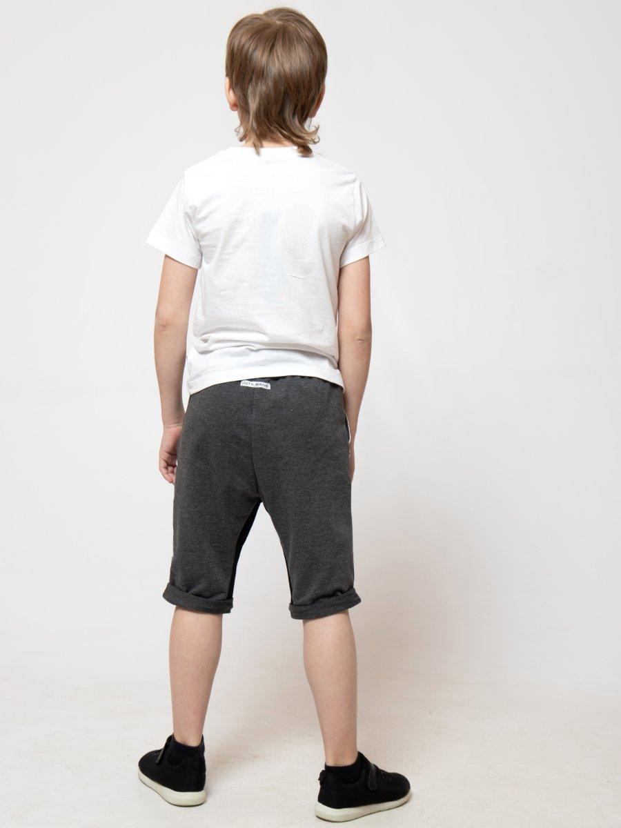Бриджи для мальчика из футера 2-х нитки, цвет: темно-серый
