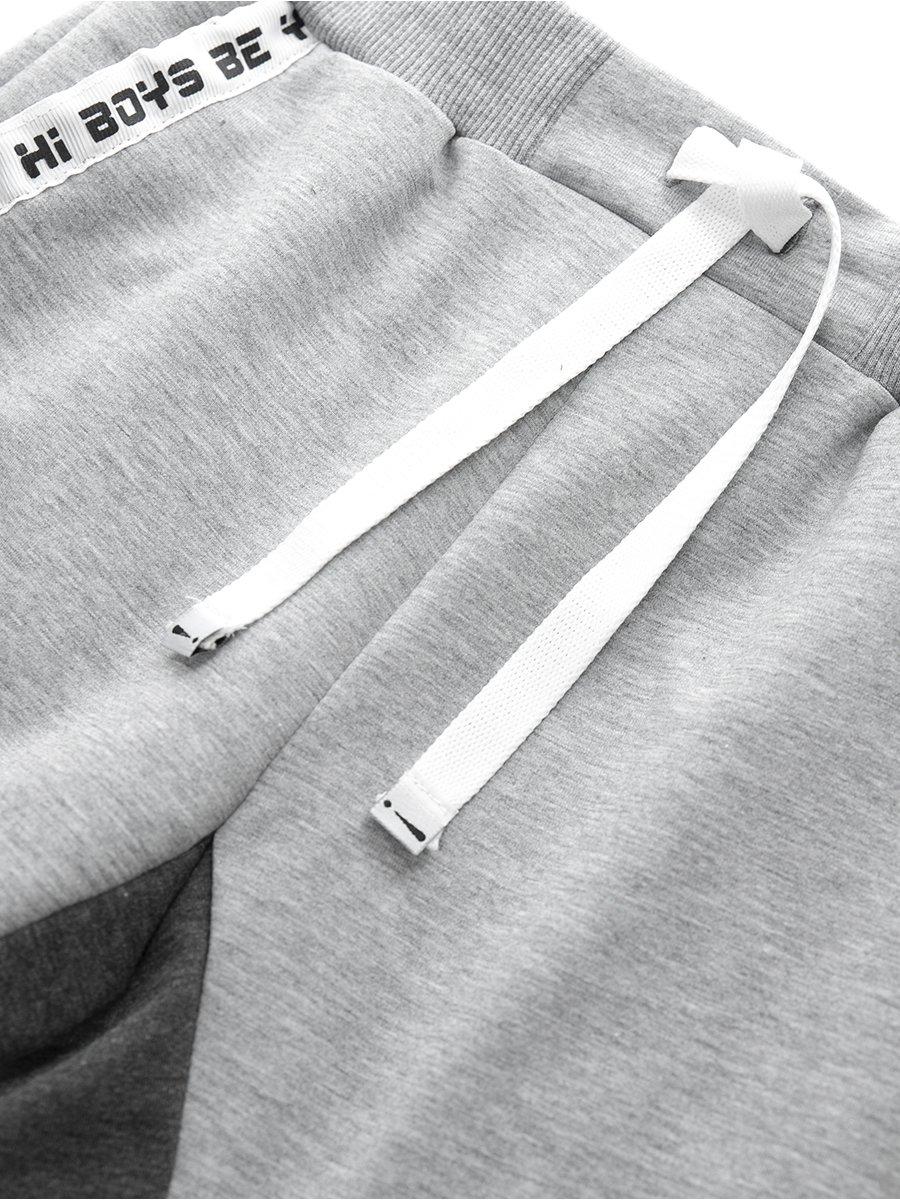 Бриджи зауженные со средней посадкой для мальчика, цвет: серый