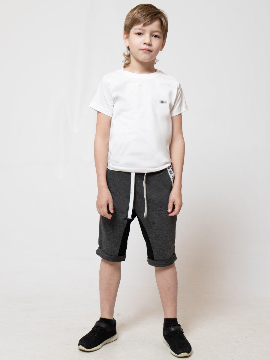 Бриджи зауженные со средней посадкой для мальчика, цвет: темно-серый
