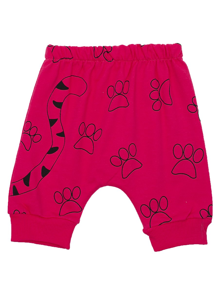 Комплект для девочки: футболка и шорты, цвет: коралловый