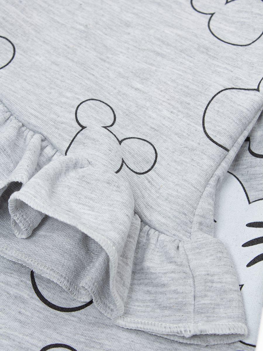 Комплект для девочки: кофточка и шорты, цвет: серый меланж