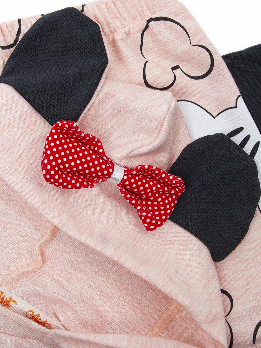 Комплект для девочки: кофточка и шорты, цвет: пудра