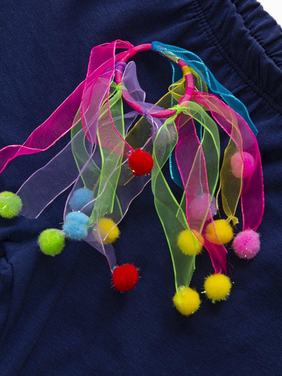 Комплект для девочки: туника и капри, цвет: персиковый
