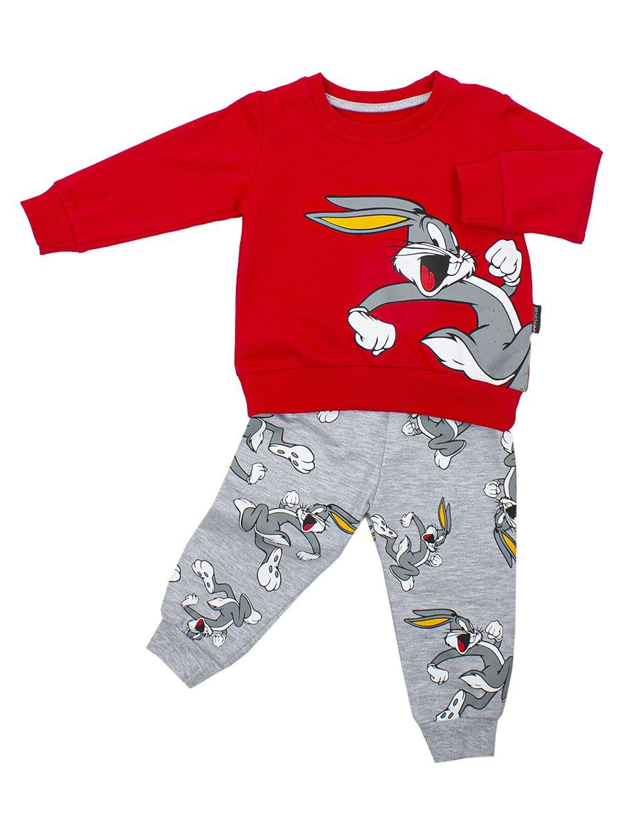 Комплект детский: толстовка и штанишки, цвет: красный