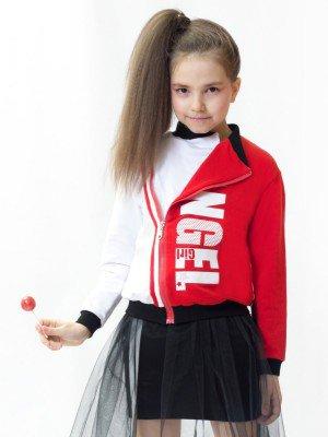 "Толстовка ""косуха"" прямого силуэта для девочки"
